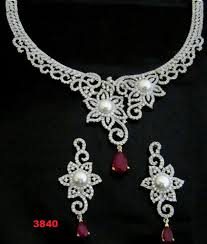 white stones necklace set images Set heavy stone necklace set at rs 3840 piece necklace set jpg