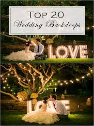 backdrops for top 20 unique backdrops for wedding ceremony ideas