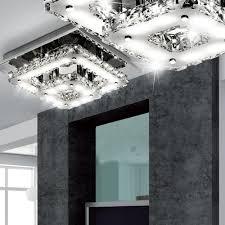 Wohnzimmerlampen Led G Stig Elegante Deckenlampe Aus Chrom Mit Kristallglas Lampen U0026 Möbel