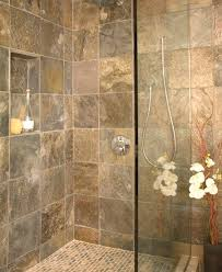 the look of this slate also the small tiles on the shower