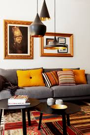 Living Room Lamp by Decoration Ideas Attractive Brown Tufted Fabric Sofa And Brown