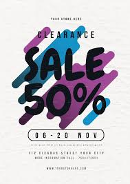clearance sale flyer by lilynthesweetpea graphicriver