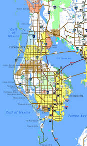 Florida Interstate Map by Florida Southeastroads Pinellas County Highways