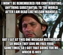 Free Food Meme - i got free food which is nice meme guy