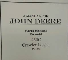 john deere jd 450c crawler loader parts manual book catalog pc1443