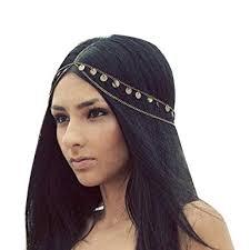 bohemian hair accessories missgrace women bohemian chain headband hair
