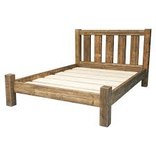 rustic wood bed frame rustic solid wood bed frame with slatted by