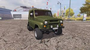 uaz hunter tuning uaz 469 half track for farming simulator 2013