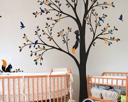 Nursery Wall Tree Decals Nursery Tree Decal Etsy