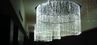 Large Chandelier Universal Fiber Optic Lighting View Project Plaza Romania
