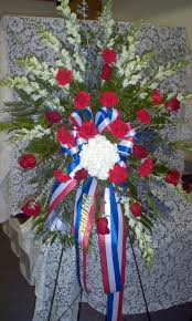 Sympathy Flowers And Gifts - standing spray red white and blue u2026 pinteres u2026