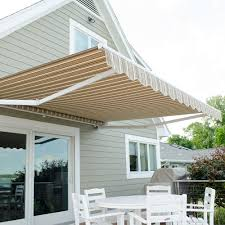 Awning Means This Awning Features Sunbrella Westfield Mushroom Awning Stripe