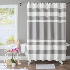 Blue Ticking Curtains Navy Blue Ticking Stripe Shower Curtain Shower Curtain Ideas
