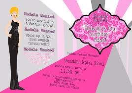 fashion show birthday party invitations cimvitation
