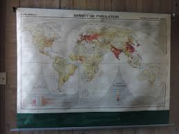 Pull Down World Map by Vintage World Map Rand Mcnally Pull Down Map World