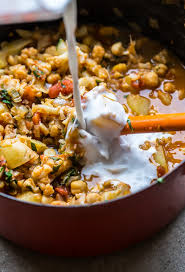 Potatoes Main Dish - vegan cauliflower potato and chickpea curry recipe