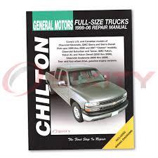 chevy silverado 2500 chilton repair manual lt wt ls base shop