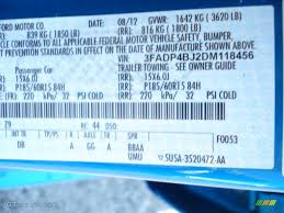 2013 fiesta color code z9 for blue candy photo 69867703