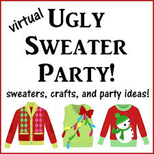 ugly christmas sweater party gift tags atta says