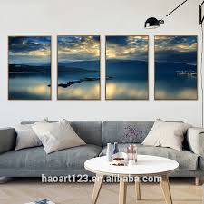 Home Decor Wholesale China 4 Panel Natural Scenery Wall Picture Led Canvas Painting For China