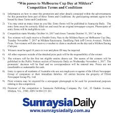 competition terms and conditions sunraysia daily sunraysia daily