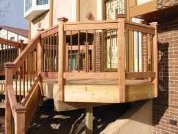 home decor beautiful deck railing design for lovely landscape