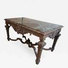 Italian Console Table 19th Century Louis Xiv Italian Console Table With Green Marble Top