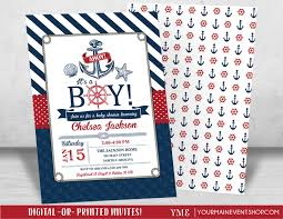 nautical baby shower invitation beach boy baby shower ahoy