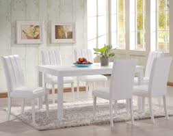 image of white parson dining chairs
