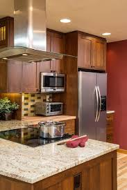 Toaster Oven Under Counter San Francisco Craftsman Kitchen Cabinets Traditional With Under