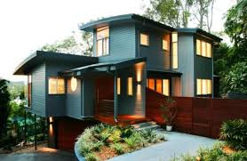 Split Level Style Exterior Of Modern Home Design With Unusual Architecture Best