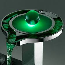 waterfall bathroom faucet with led