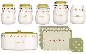tea coffee sugar biscuit jar canisters with flip top lid utensil