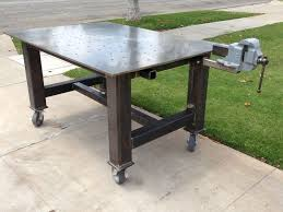 diy welding table plans vise and grinder stands i m looking for ideas on how to use several