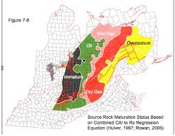 Salem Ohio Map by Source Rock Maturation Status Map Shale Gas Reporter