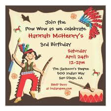 american indian birthday party invitation zazzle com