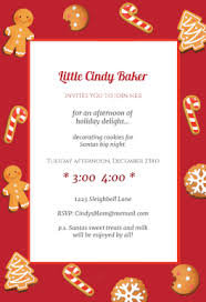 cookie christmas printable invitation template customize add