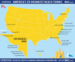 Miami City Map by The Drunkest Beach Towns In America Map Vinepair