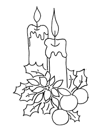 christmas tree candles coloring pages christian coloring pages