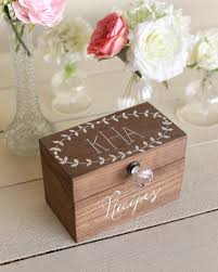 personalized wooden boxes personalized wood recipe box with faux glass knob monogrammed