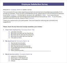 Free Survey Templates For Word by Feedback Survey Templates 7 Excel Survey Template Cook Resume
