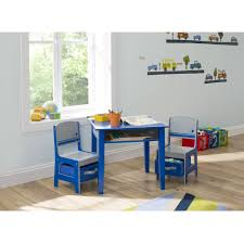 Toddler Table And Chairs Wood Delta Children Jack And Jill Storage Table And Chair Set Walmart Com
