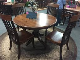 baytown single pedestal dining table from dutchcrafters amish