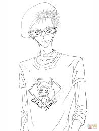 nobuo terashima aka nobu from nana manga coloring page free