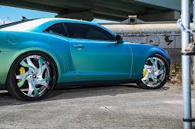 light blue camaro camaro on forgiato wheels has a difalco grille autoevolution