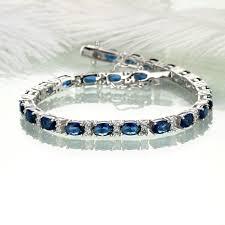 sapphire bracelet images Umcho blue sapphire bracelet for women 925 sterling silver gift jpg