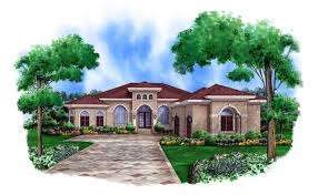 1 Story Homes One Story Mediterranean House Plans Hahnow