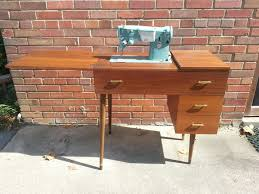 Singer Sewing Machine Cabinets by Hold Mid Century Mod Desk U0026 Singer Sewing Machine Sewing Cabinet