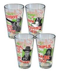 a christmas story movie collectible tinted pint bar glasses