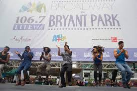 broadway in bryant park guide with ticket info and show lineups